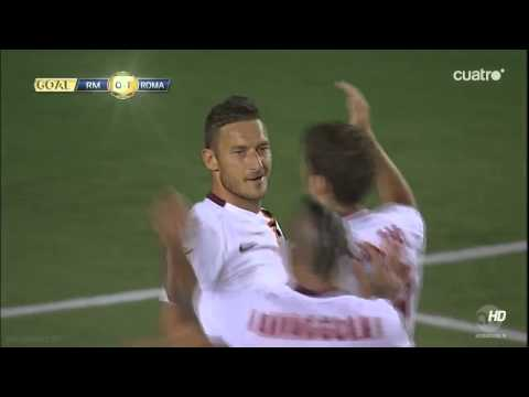 Real Madrid 0-1 Roma Totti Goal Guinnes Cup