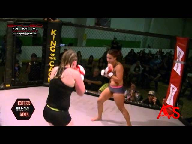 EXILED MMA and ACSLive.TV PRESENTS  Angelina Schneider VS Jackie Leese