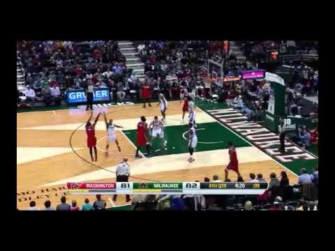 NBA CIRCLE - Washington Wizards Vs Milwaukee Bucks Highlights 27 Nov. 2013 www.nbacircle.com