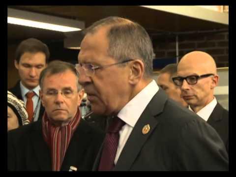 С.Лавров на церемонии объявления благодарности Президента России М.Неерланд Солейм