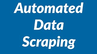 Automated data scraping from websites into Excel