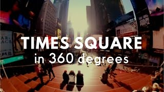 Walk around the New York Times Square in 360 degree video camera