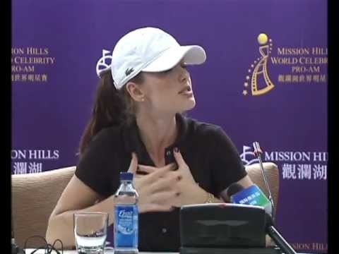 Minka Kelly's News Conference in Mission Hills,Haikou,China