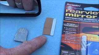 how to replace you rear viwe morror or reattach one that has fallen off.