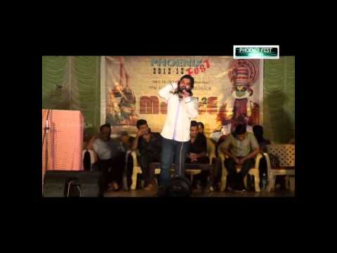 Shafi Kollam new song in PHOENIX College Vailathur College Day 2013-14......