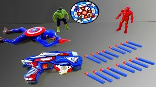 Box Of Toys! Super Hero Toy Captain America with 3 New Kind of Colorful Toys for Kids
