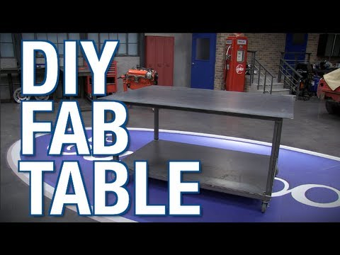 DIY Fab Table with MIG Welder and Plasma Cutter from Eastwood