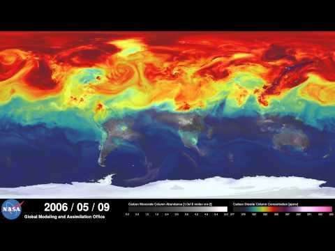 Stunning CO2  Pollution Visualization - Highest Resolution