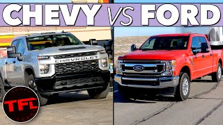 Ford vs Chevy MPG Verdict! Here's How the F-250 7.3L V8 Compares to the Silverado V8 Towing & Not!