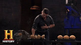Forged in Fire: Coconut Chop and Sharpness Tests (Season 5) | History