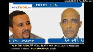 የኦሮሞ የሕግ ባለሞያዎች ማኅበር የለንደኑ ጉባኤ (Oromo Lawyers Association conference in London - VOA (October 27, 2016)