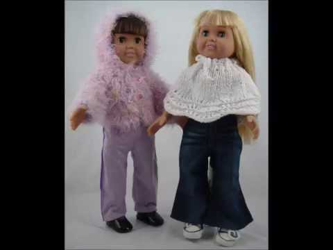 Knitting Pattern 13 Inch Doll : Doll Clothes Patterns for 18-inch Dolls from Frugal Knitting Haus - YouTube