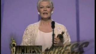 Judi Dench winning Best Supporting Actress