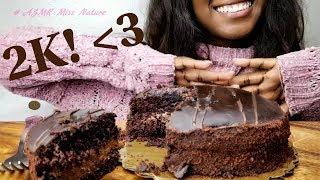 ASMR Dessert: Chocolate Midnight Cake 쇼 케이크 먹기\MUKBANG/ Thank you for 2K!