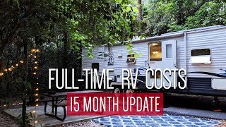 True cost of 15 months of Full-time RV living