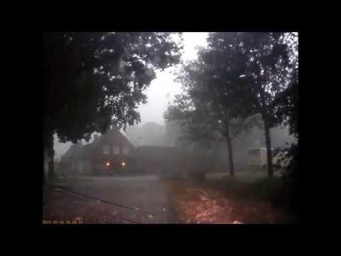 Noodweer in Luyksgestel (Nederland) 23 juni 2016