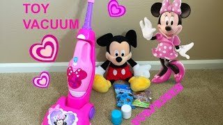Toy Vacuum Cleaner Minnie Mouse Unboxing / Review and SURPRISES