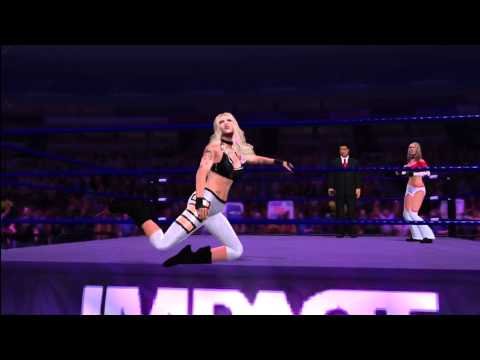 WWE 12: Velvet Sky, Angelina Love,  and Kharma (the DLC) (Impact Arena)