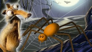 Ice Age 5 squirrel short scary halloween cartoon story for kids spider full spooky movie