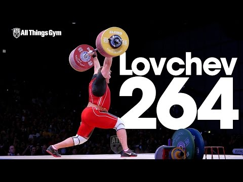Aleksey Lovchev 264kg Clean & Jerk World Record + Slow Motion 2015 World Weightlifting Championships