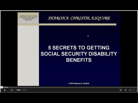 5 Secrets To Getting Social Security Disability Benefits