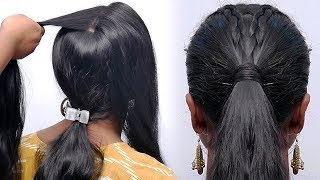 simple high ponytail hairstyle for beginners | easy hairstyles | baby hairstyles | #ponytail