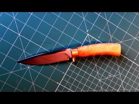 Видео как сделать нож
