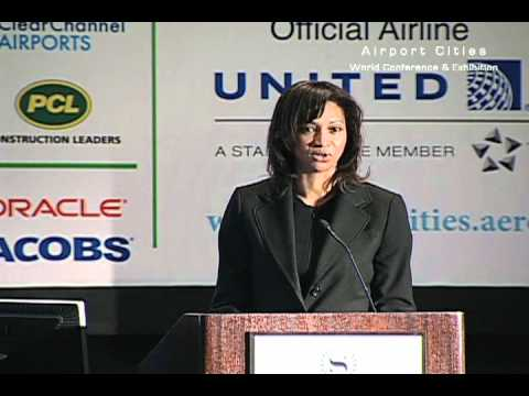 Deborah Ale Flint, director of aviation at Oakland International Airport, speaks at ACE 2012