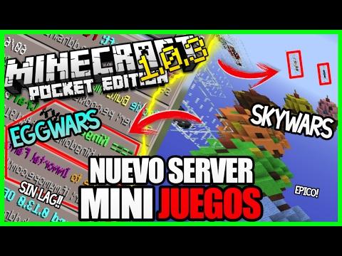 NUEVO Y MEJOR SERVER!!! Los Juegos Del Hambre.Eggwars.Skywars!! Minecraft Pe 1.0.3 - Mejor servidor