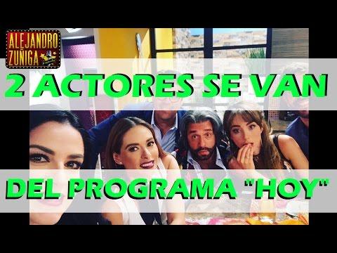 Actores ABANDONARON el programa