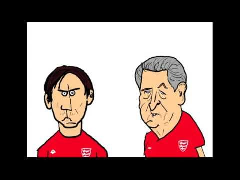 Mr Roy and Gary Neville - England v Russia