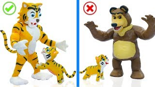 SUPERHERO BABY WILD TIGER AND BEAR 💖 Play Doh Cartoons Animation