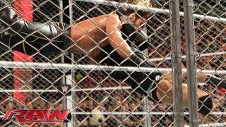 Randy Orton hits Seth Rollins with an RKO: Raw, April 20, 2015