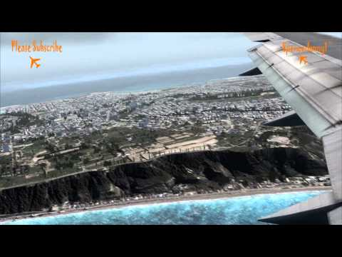 Realistic FSX Movie. Captainsim Boeing 757 Stormy Landing in Rhodes Extreme