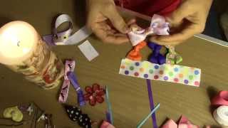 Como Hacer un Moño o Lazo. How to Make a Boutique Bow
