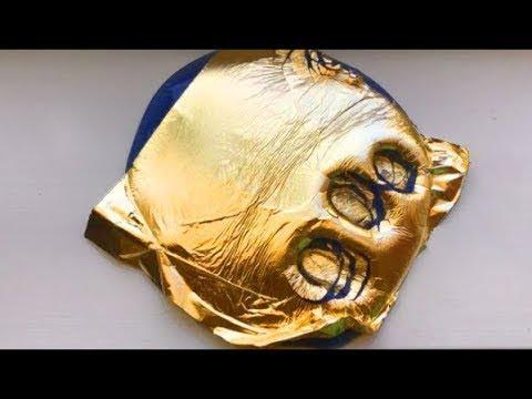 Как сделать слайм с золотой фольгой как в Инстаграме?// DIY gold leaf slime