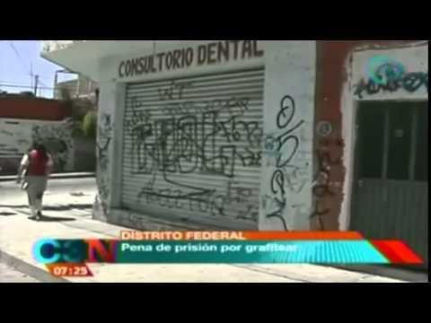 Pena de prisión por grafitear en el Distrito Federal