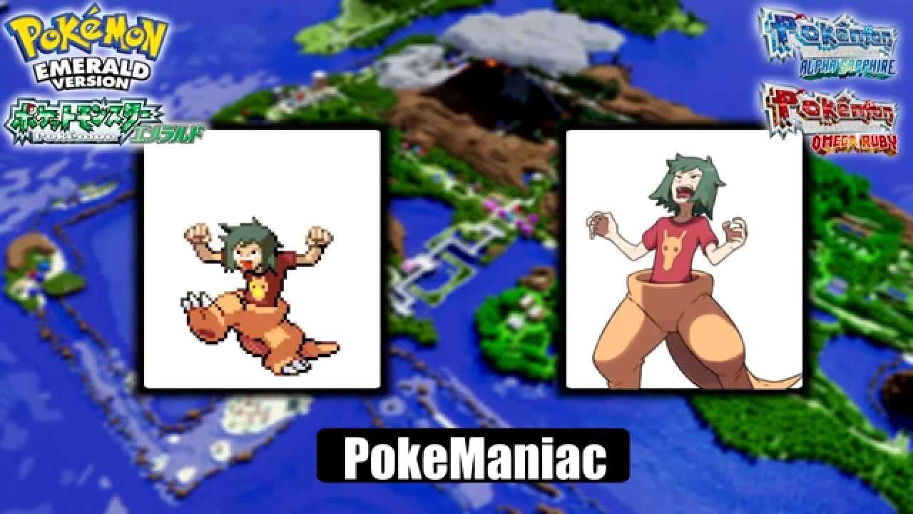 pokemon oras rse trainer sprite comparison youtube