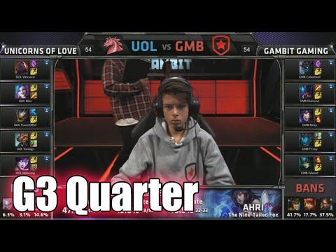 Gambit vs Unicorns of Love | Game 3 Quarter Finals S5 EU LCS Spring 2015 playoffs | GMB vs UOL G3