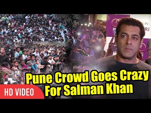 Pune Crowd Goes Crazy For Salman Khan | UNCONTROLLABLE CROWD | PNG Jewellers Store Launch #1