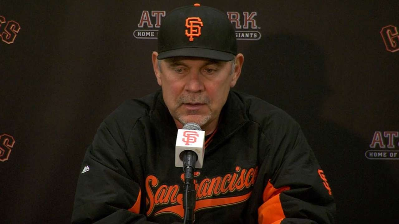 NYM@SF: Bochy on bullpen, 3-0 loss to Mets