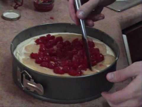 how to make black forest cheesecake part2