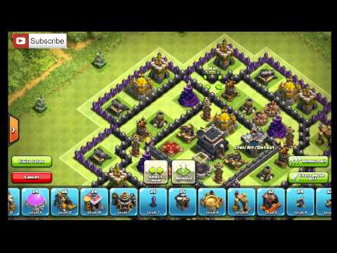 EPIC Town Hall 9 Anti-GoWiWi/GoWiPe Base The Clock 2015 Clash of Clans
