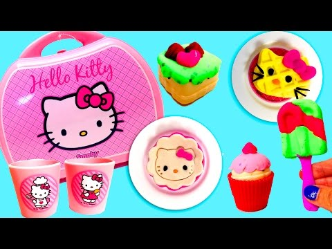Hello Kitty Mini Kitchen Playset ハローキティ Mini Cocina Juguetes Hello Kitty Pastry Shop video