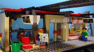 LEGO City Trains: Train Station - Stop Motion