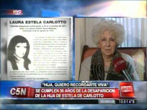 C5N - SOCIEDAD: HABLA ESTELA DE CARLOTTO A 36 AÑOS DE LA DESAPARICION DE LAURA