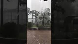 Super Typhoon Mangkhut Happening Now in Hongkong