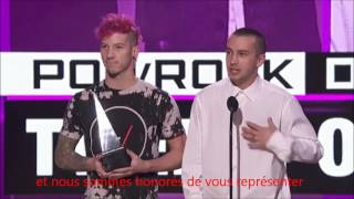 Speech AMAs #1 - Twenty One Pilots - French Translation