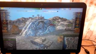"""Test video (graphic) card """"HD 4250 + HD 6470M"""" in the game World of Tanks"""