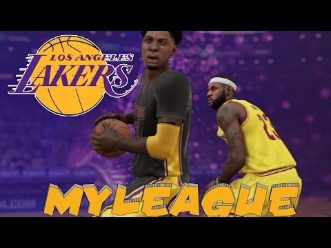 NBA 2K15 MyLeague Mode Ep.22 - Los Angeles Lakers - LeBron James visits Kobe Bryant and Kris Braxton